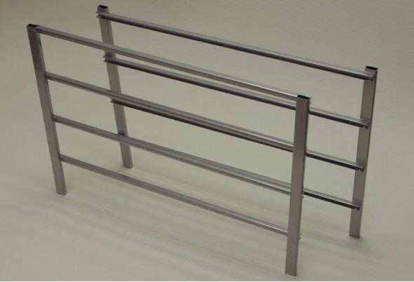 Боковина стеллажа на 4 рельса 44*54 см