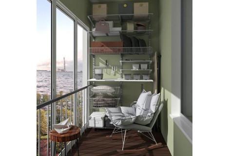 Стеллажная система на балконе