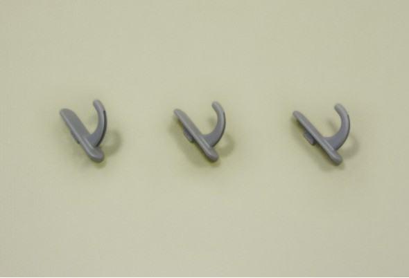 Крючок круглый для перфорированной панели, 3 шт/уп
